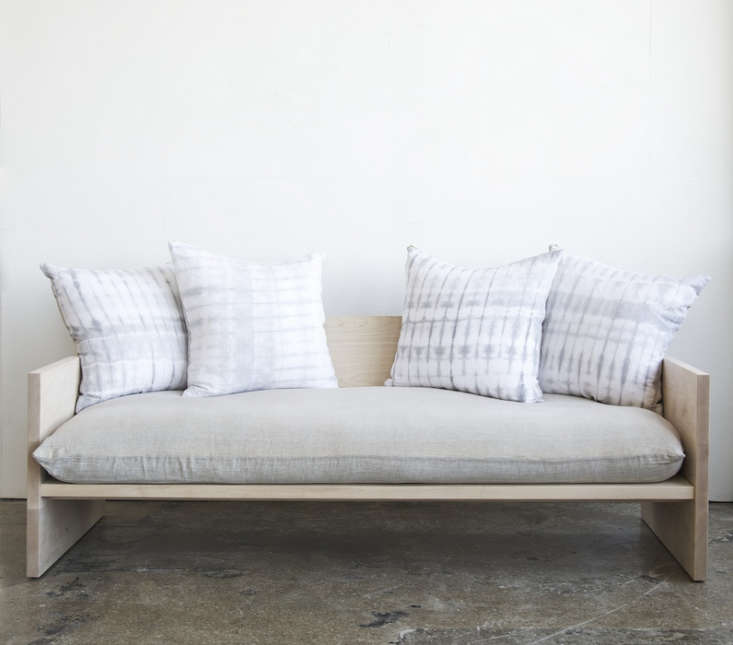 A Modern Daybed Sofa, Hand-Dyed Shibori Included - Remodelista