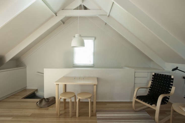 Small-Space Living: An Airy Studio Apartment in a Garage - Remodelista