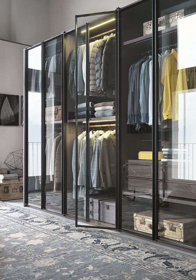 Above: From Italian Company Lema, The Armadio Al Centimetro Aria Is A  Modular Wardrobe System With Glass Doors.