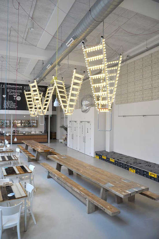 Industrial Light and Magic: A Disco-Inspired Cafe in Holland