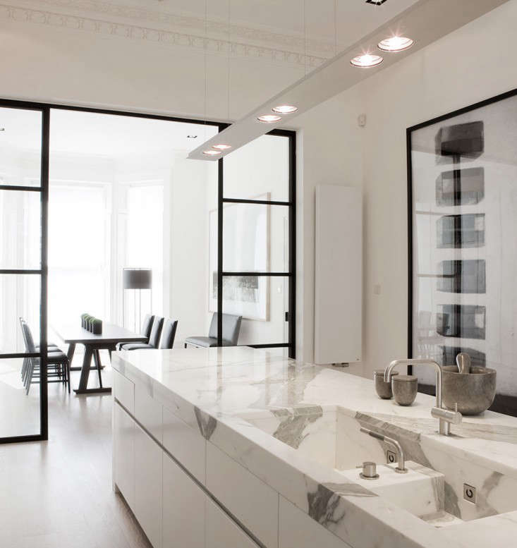Covetable Interiors: Trend Alert: 8 Integrated Marble Kitchen Sinks