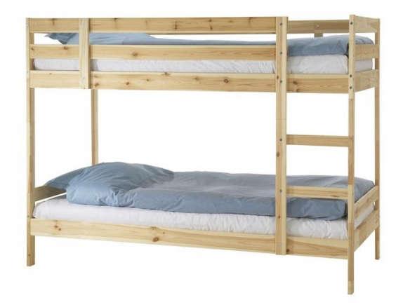 mydal bunk pine bed frame - Pine Bed Frame