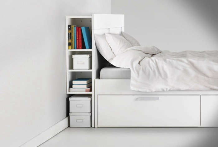 HighLow ClutterEliminating Storage Headboard  Remodelista