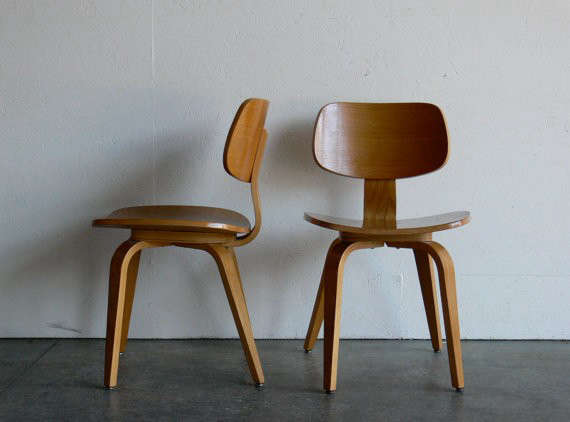 Vintage Mid Century Modern Thonet Plywood Chair