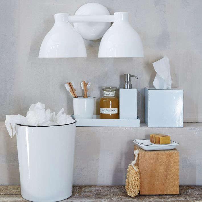 Enamel bath accessories for Bathroom accessories location