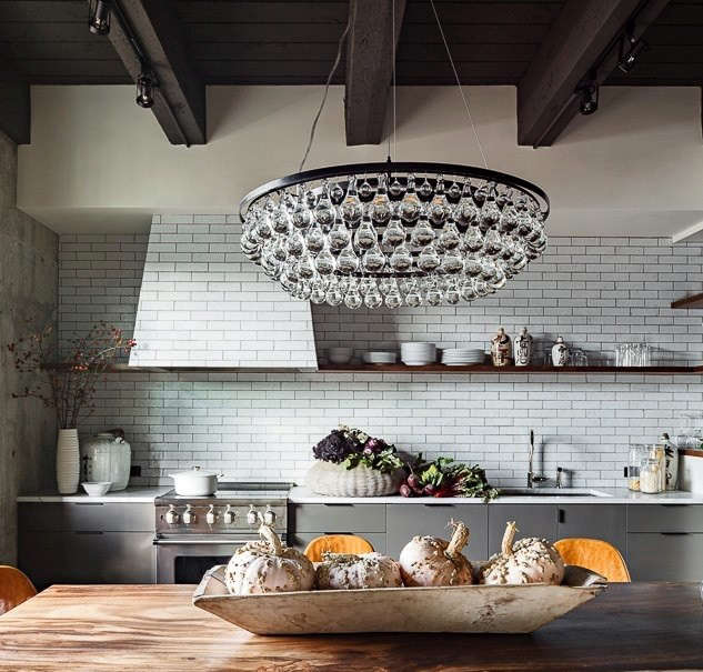 High Low Arctic Pear Chandelier Remodelista