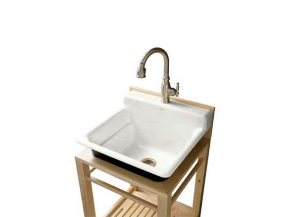 kitchen and utility sinks clarion farmhouse drainboard sink on legs 5005