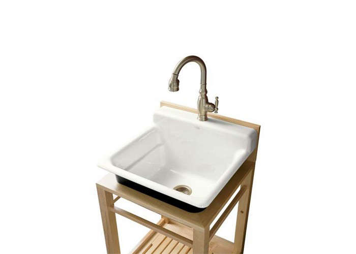 above enameled castiron bayview utility sink is at faucet depot - Utility Sink Faucet