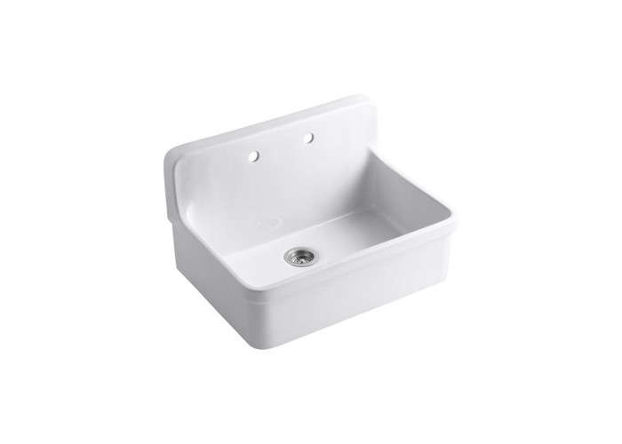 Above: Kohleru0027s Gilford Apron Front Wall Mount Sink Made Of Vitreous China;  $1,508.66 At EFaucets.