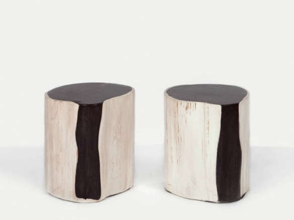 Peachy Andrianna Shamaris Pair Of Petrified Wood Side Tables Gmtry Best Dining Table And Chair Ideas Images Gmtryco