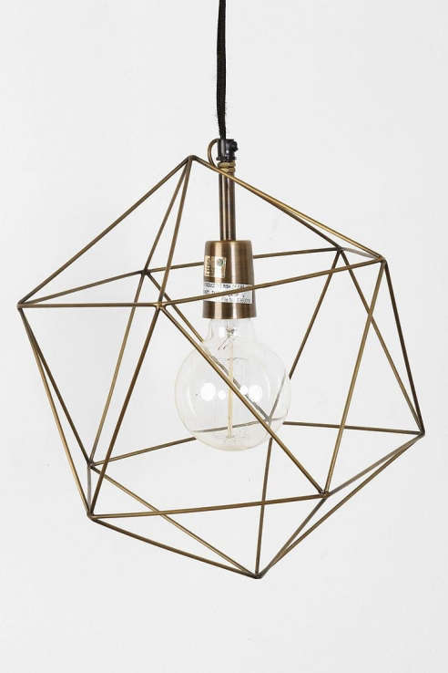 Wall Sconces Urban Outfitters : Magical Thinking Geo Pendant