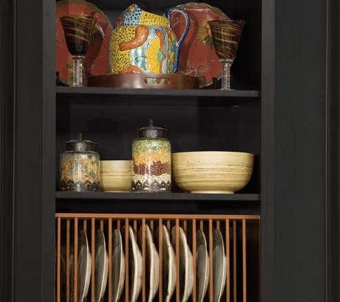 & Hafele Wooden Plate Rack
