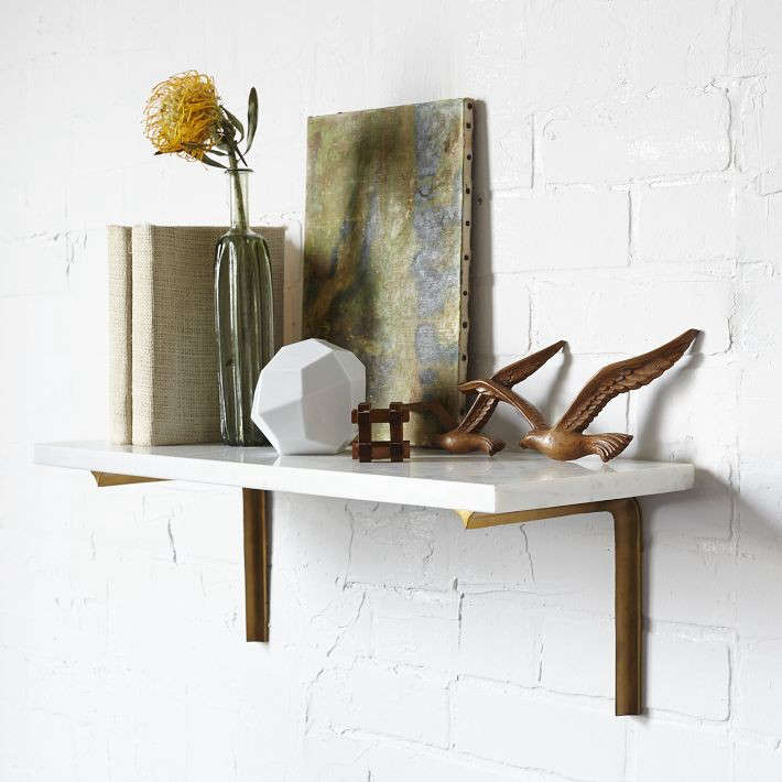 A Brass Shelf Two Ways Remodelista