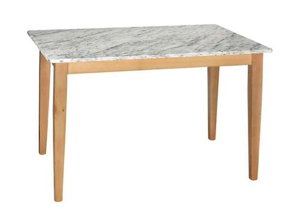 HND Katrina 6 Seater Rectangular Dining Table Carrara