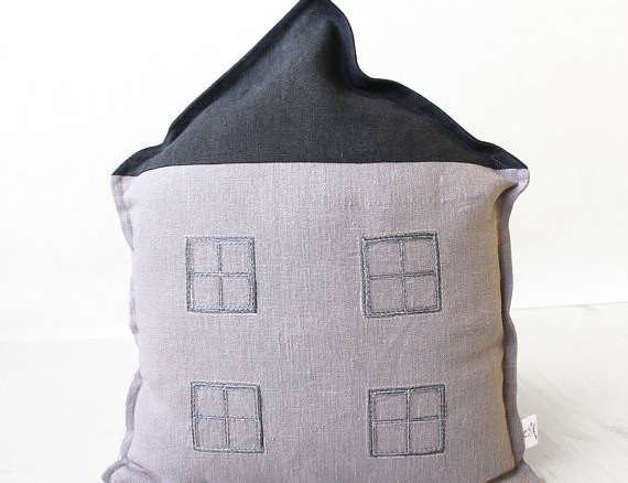 May House Shaped Pillow Cover
