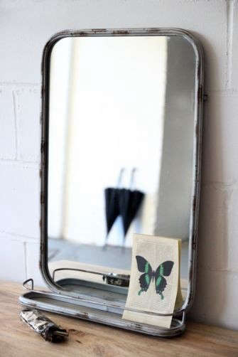 Design sleuth 5 bathroom mirrors with shelves remodelista - Spiegel industrial metal ...