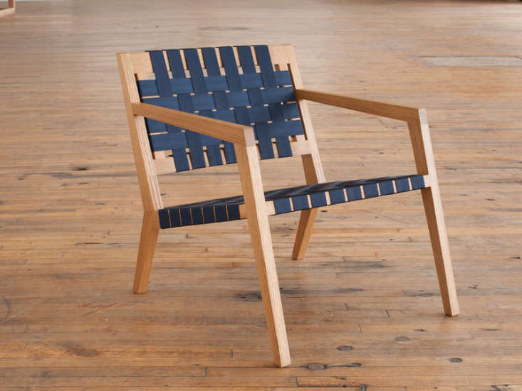 ... of Phloem Studio in Portland Oregon offer their Nadine Lounge in a range of domestic hardwoods woven with leather straps (shown) or seat belt webbing. & 10 Easy Pieces: Modern Woven Chairs - Remodelista islam-shia.org