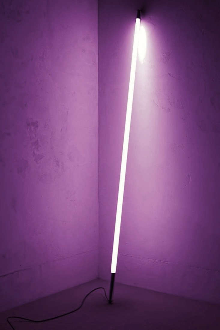 Above The Neon Stick Light is available in pink (shown here) blue purple and green. & Design Sleuth: A Dan Flavin-Inspired Light - Remodelista