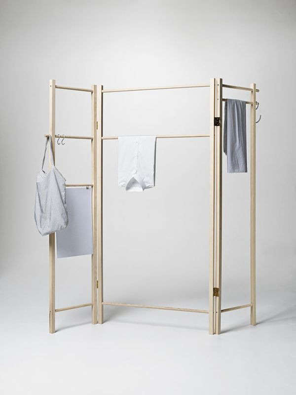 360 degrees foldable garment rack - Designer clothes rack ...