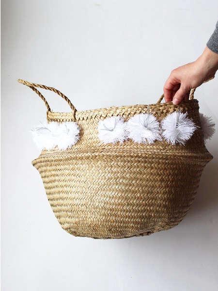 46a3860752 Eliza Gran Pom Pom Basket - Large