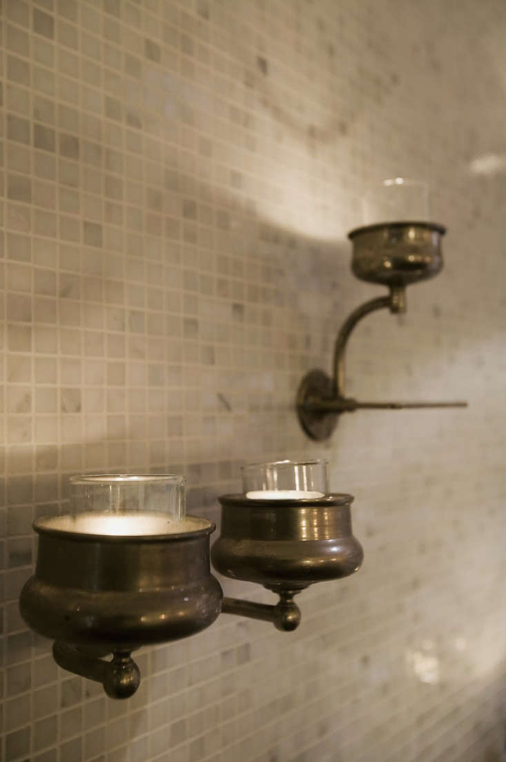 Design Sleuth Vintage Cup Holders As Candle Sconces Remodelista - Candles for bathroom