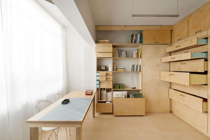 An Organizer S Dream Art Studio With Color Coded Built In Storage Remodelista