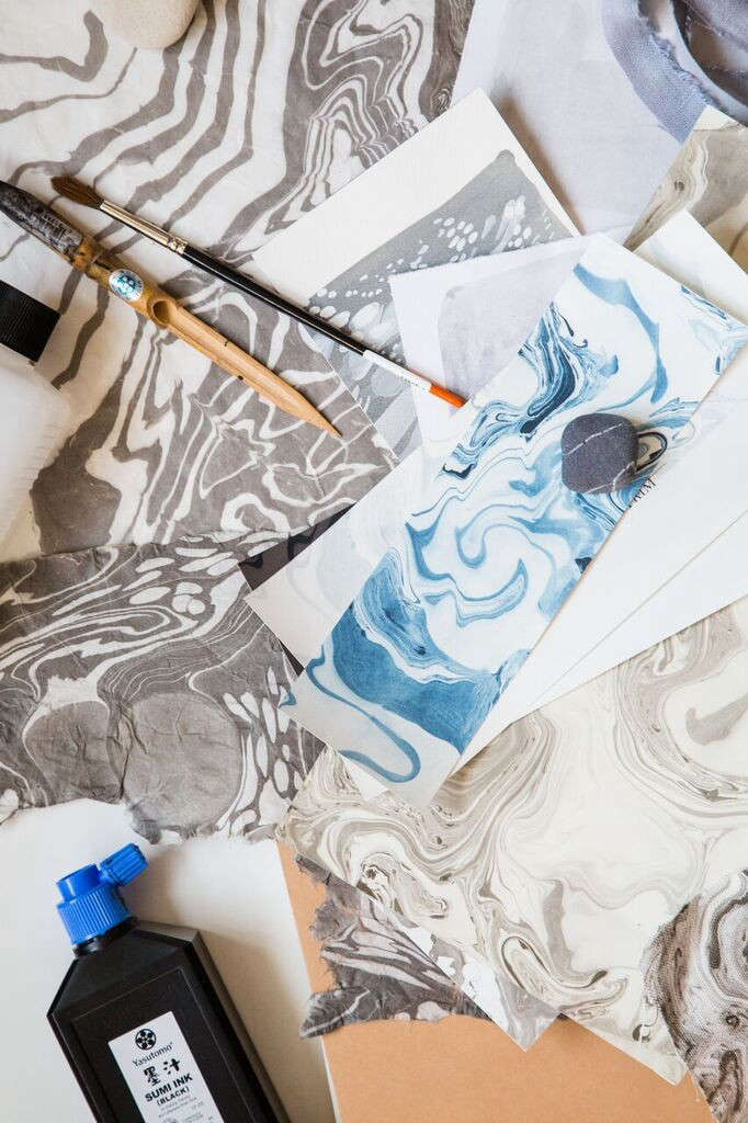 Handmade Wallpaper in Painterly Prints from Rebecca Atwood in Brooklyn