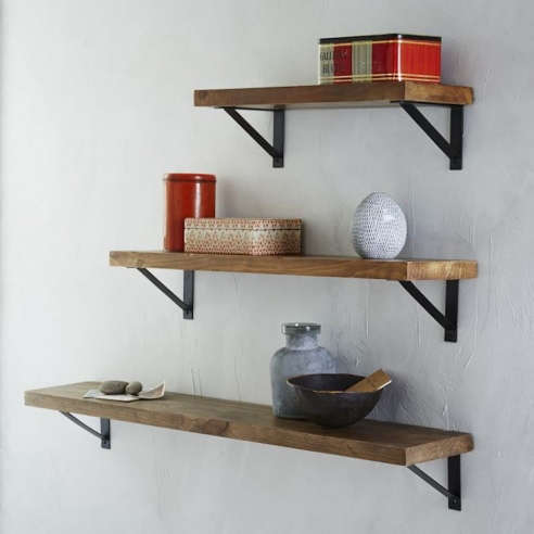Reclaimed Wood Shelf Basic Brackets