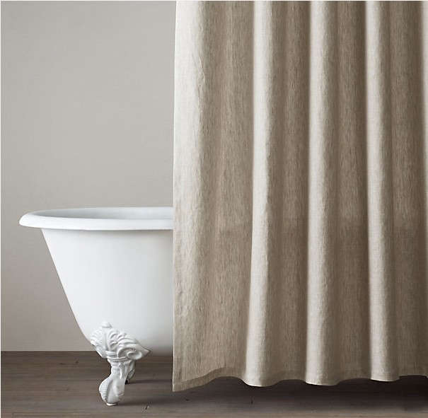 Above Restoration Hardwares Vintage Washed Belgian Linen Shower Curtain 72 Square Inches Is 4999 Marked Down From 89 Extra Long Size Also Available