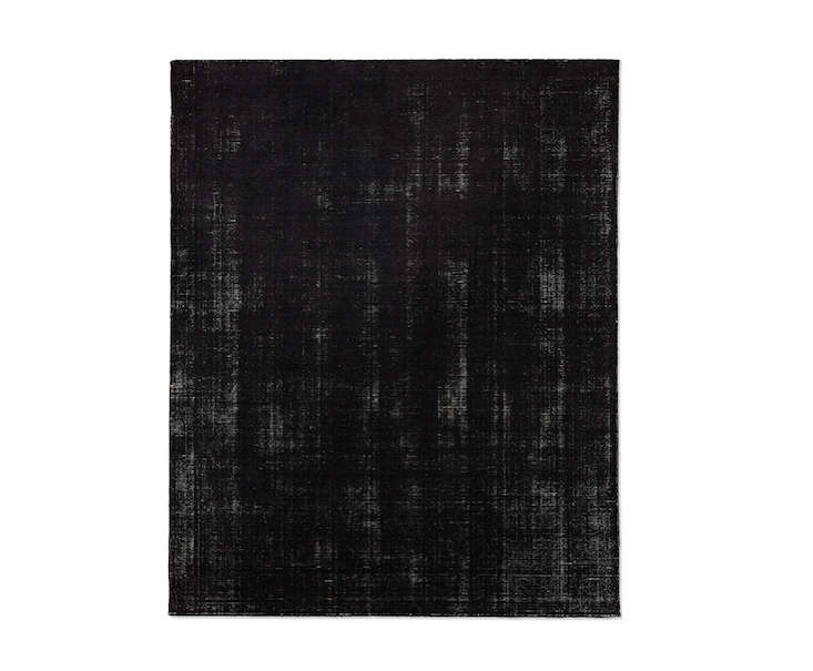 Above The Distressed Wool Rug In Black Curly On For 1 035 Marked Down From 295 At Restoration Hardware