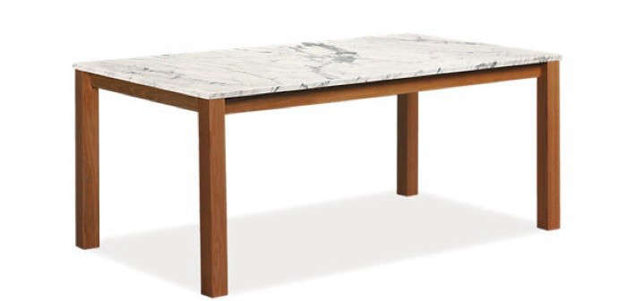 Easy Pieces MarbleTop Dining Tables Remodelista - Cb2 marble dining table