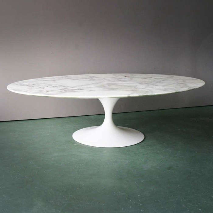 Above: A 1970 Oval Coffee Table By Eero Saarinen Achieves One Of A Kind  Status Via Its Italian Marble Top With Distinctive Inclusion; $4,000 From  Art Of ...