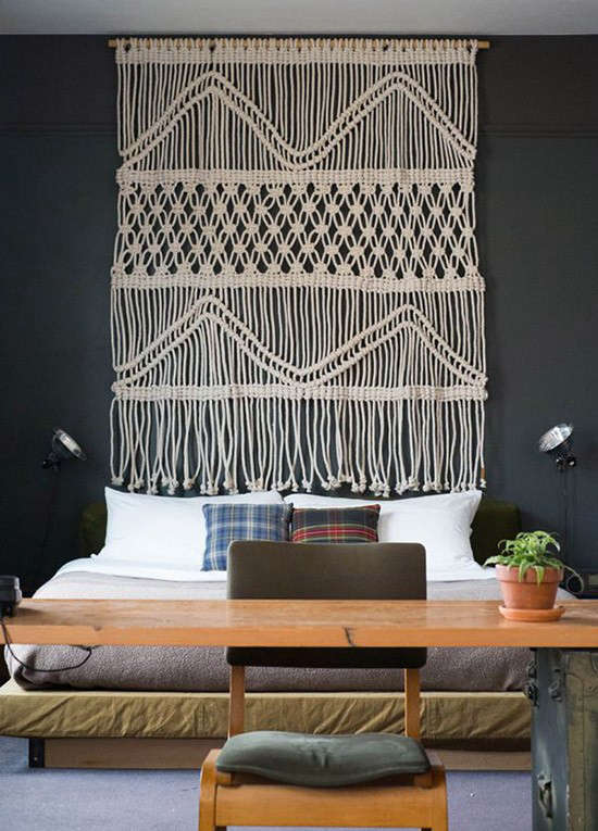 Design Sleuth: Macrame Headboard from the Ace Hotels