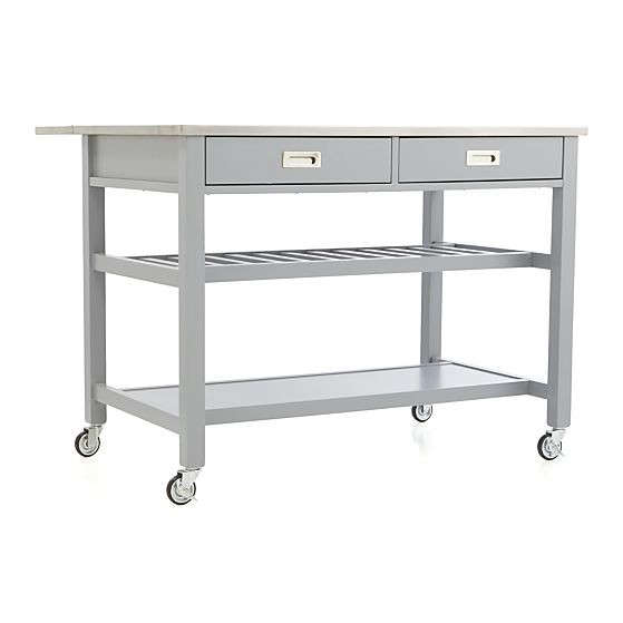 Above: The Sheridan Kitchen Island From Crate U0026 Barrel Is Available In  Gray, White, Or Black For $699.
