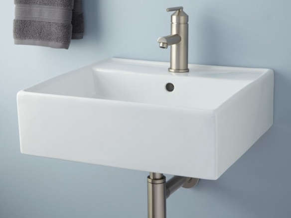 wall-mount bathroom sink