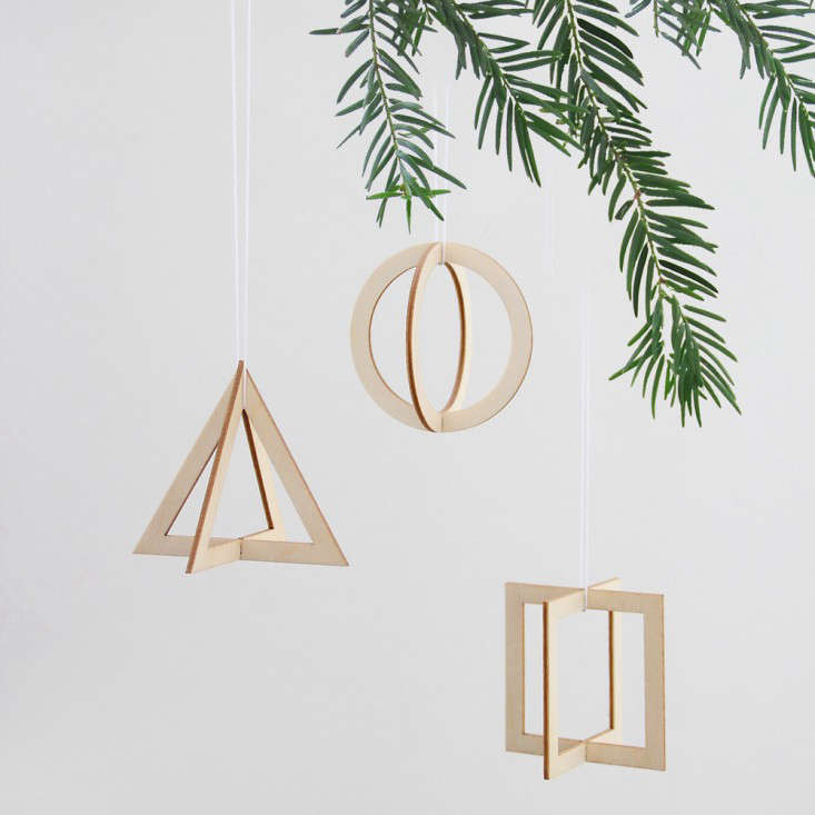 above from germany the snug trio a set of geometric wooden pendants that you assemble 1690 - German Handmade Wooden Christmas Decorations