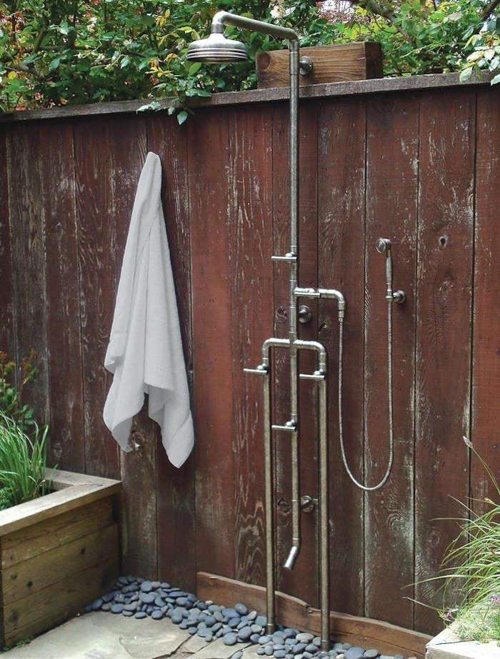 exterior shower fixtures. fixture with source · high low rugged outdoor shower remodelista exterior fixtures a