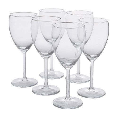 For large parties, Ikea's Svalka White Wine Glasses are good to have on hand in multiples; $4.79 for a set of six (marked down to $1.92 through December 23). For more ideas, see 10 Easy Pieces: Entertaining Essentials.