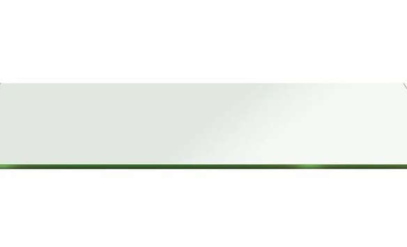 Rectangle Glass:15 X 28 In. 1/2 In. Thick Flat Edge