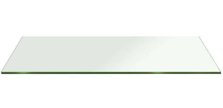 Above: A 15 By 28 Inch Flat Edge Tempered Radius Corner Rectangular Glass  Tabletop Is $91.99 (other Sizes Available) From Fab Glass U0026 Mirror.