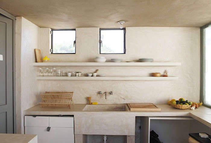 A kitchen in Todos Santos, Mexico, photographed by Laure Joliet from A Soulful Casita in Todos Santos, Mexico, for a French Aesthete.