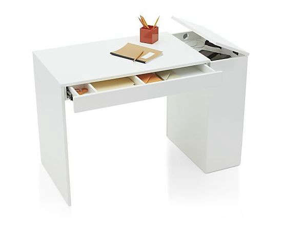 Above The A Frame White Desk By Uk Designer Alex Swain Is Made Of Fsc Certified Birch Plywood And Has Tilting Worktop With Pencil Tray 515 848 50