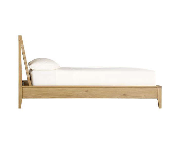 Above: Crate & Barrel's Varick Bed, $1,099-$1,299. - Five Favorites: Wooden Beds With Angled Headboards - Remodelista