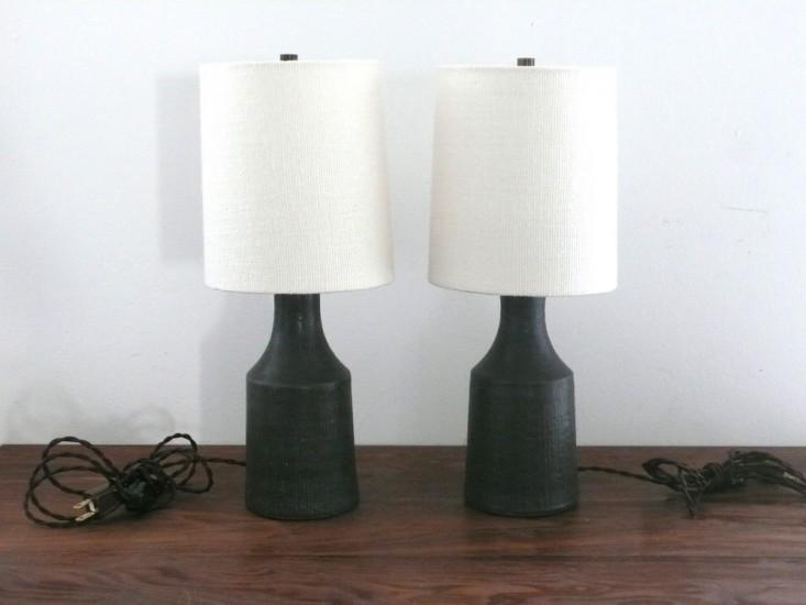 Small Matte Black Accent Lamp
