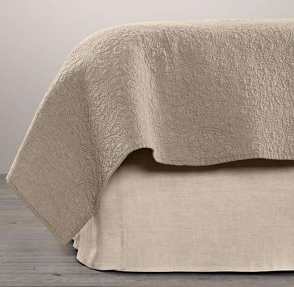 Vintage washed belgian linen bed skirt publicscrutiny Image collections
