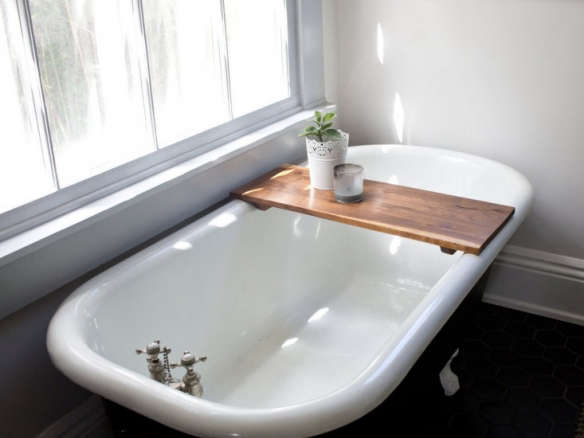 Walnut Bathtub Tray Caddy