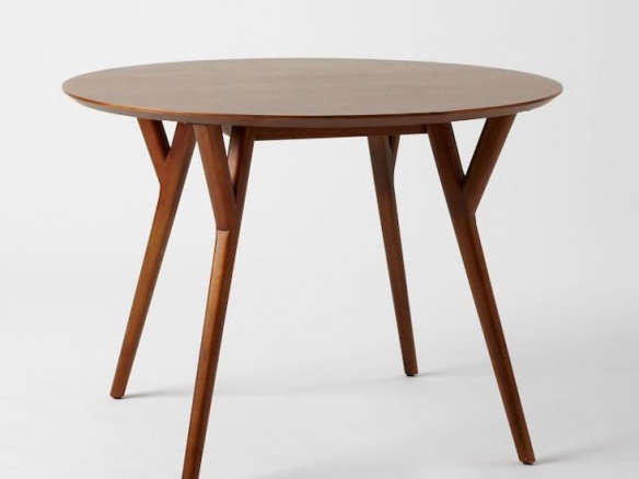 MidCentury Round Dining Table - Mid century round dining table with leaf