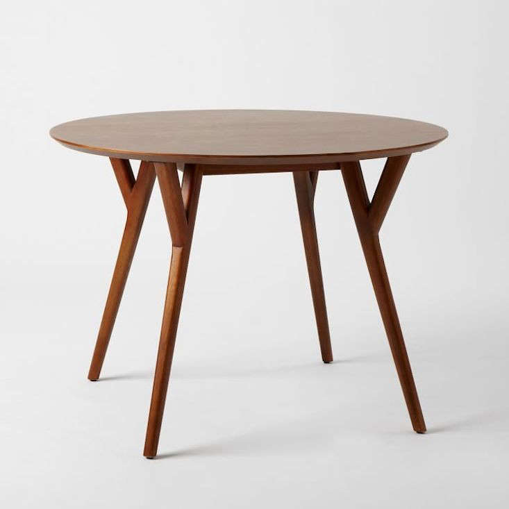 mid century round dining table. Black Bedroom Furniture Sets. Home Design Ideas