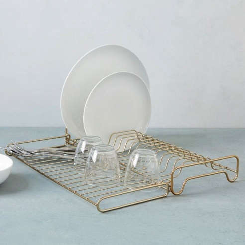 Wire Kitchen Collection   Foldable Dish Rack
