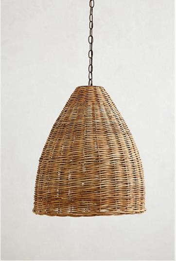 High Low A Trio Of Woven Wicker Pendant Lights
